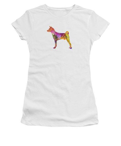 Basenji In Watercolor Women's T-Shirt