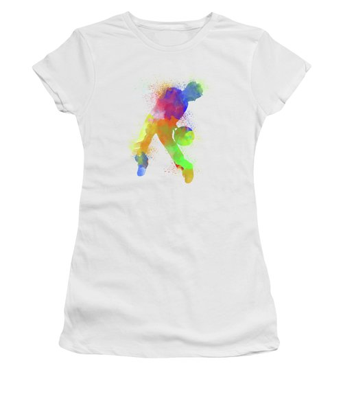 Basketball Watercolor 1 Women's T-Shirt (Athletic Fit)