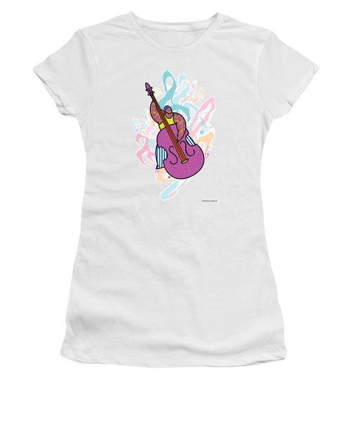 Bass Women's T-Shirt (Junior Cut) by Steve Ellis