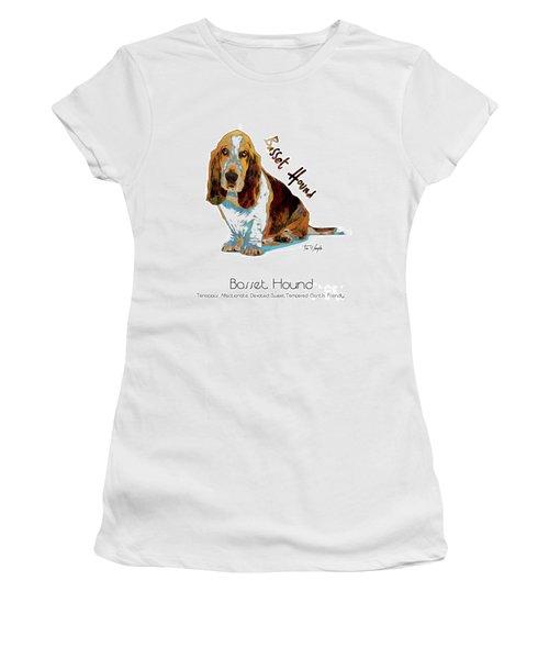 Basset Hound Pop Art Women's T-Shirt