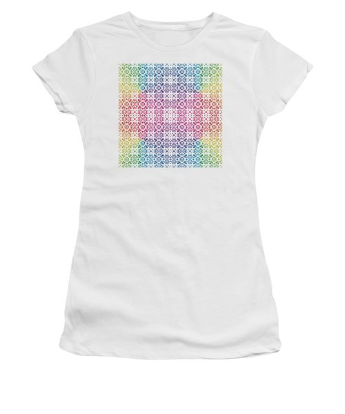 Batik Rainbow 100 - White Women's T-Shirt