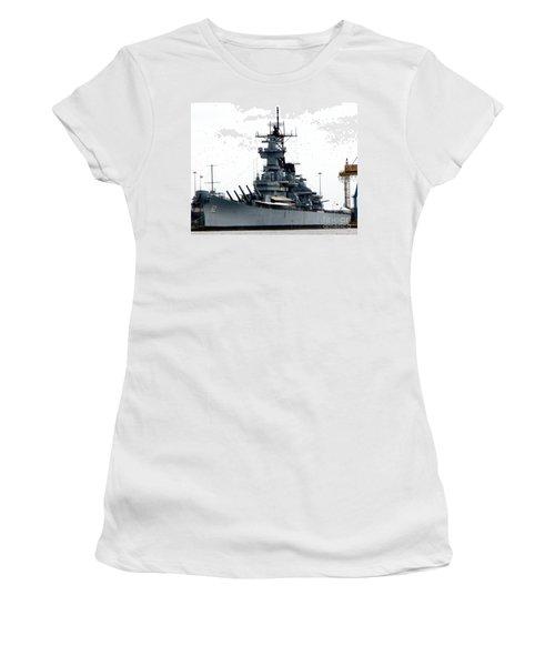 Battleship New Jersey Women's T-Shirt (Junior Cut) by Kevin Fortier