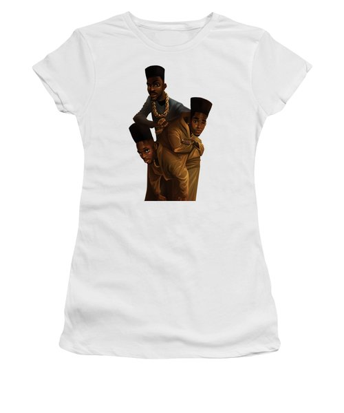 Bdk White Bg Women's T-Shirt (Junior Cut) by Nelson Dedos Garcia