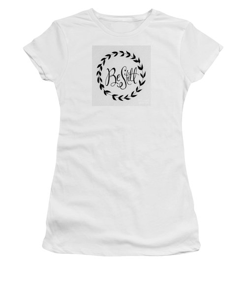 Women's T-Shirt (Junior Cut) featuring the painting Be Still by Elizabeth Robinette Tyndall