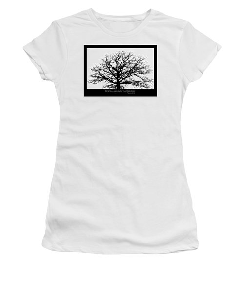 Be Still Tree Women's T-Shirt (Athletic Fit)