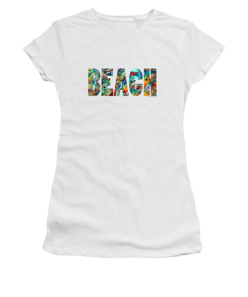 Beach Art - Beachy Keen - By Sharon Cummings Women's T-Shirt (Junior Cut) by Sharon Cummings