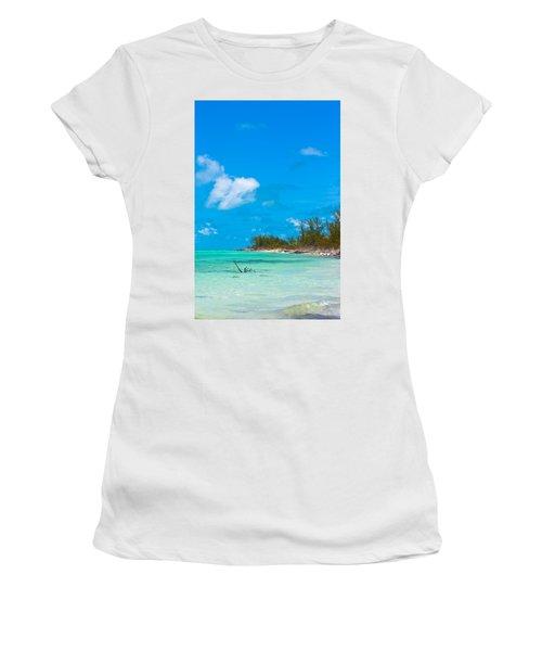 Beach At North Bimini Women's T-Shirt (Athletic Fit)