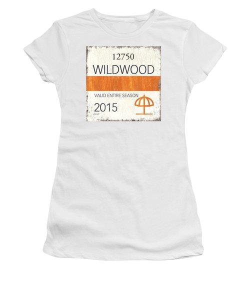 Beach Badge Wildwood Women's T-Shirt