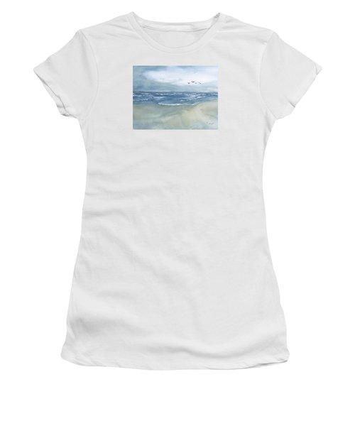 Beach Blue Women's T-Shirt (Junior Cut) by Frank Bright