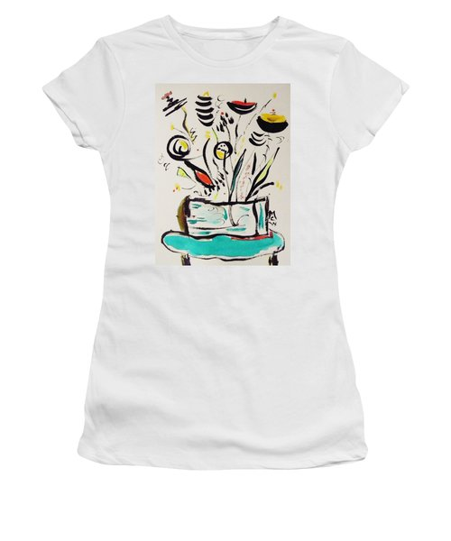 Beach Blue Table Women's T-Shirt (Athletic Fit)