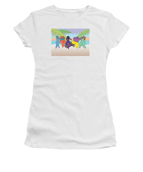 Beach Dancers Women's T-Shirt (Athletic Fit)