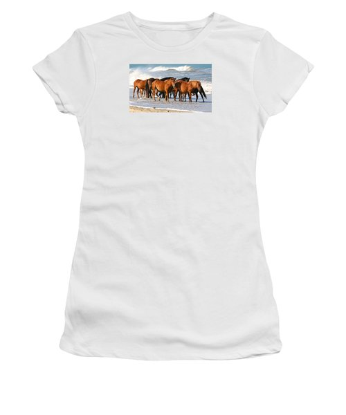 Beach Ponies Women's T-Shirt (Athletic Fit)
