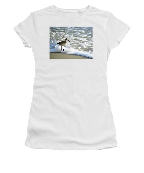 Beach Sandpiper Women's T-Shirt (Athletic Fit)