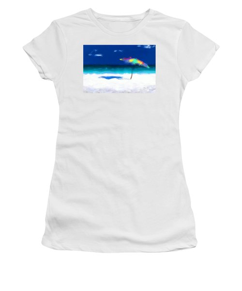 Beach Scene 4. Modern Decor Collection Women's T-Shirt (Junior Cut) by Mark Lawrence