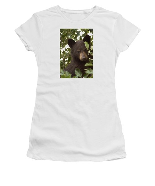 Bear Cub In Apple Tree7 Women's T-Shirt (Athletic Fit)