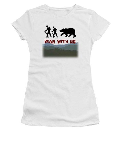 Bear With Us Women's T-Shirt (Junior Cut) by John Haldane