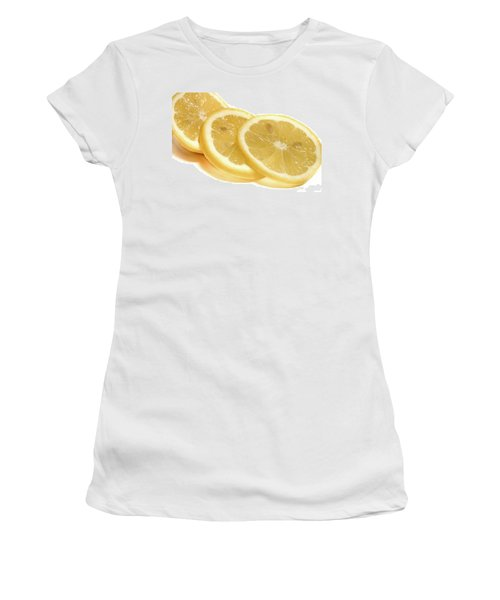 Beat The Heat With Refreshing Fruit Women's T-Shirt (Junior Cut) by Nick Mares