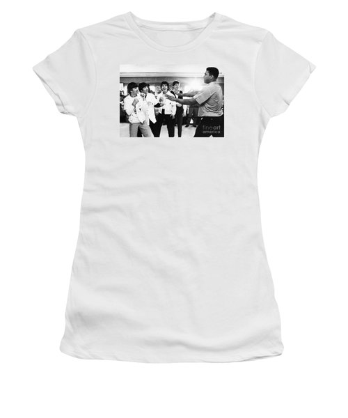 Beatles And Clay, 1964 Women's T-Shirt (Athletic Fit)