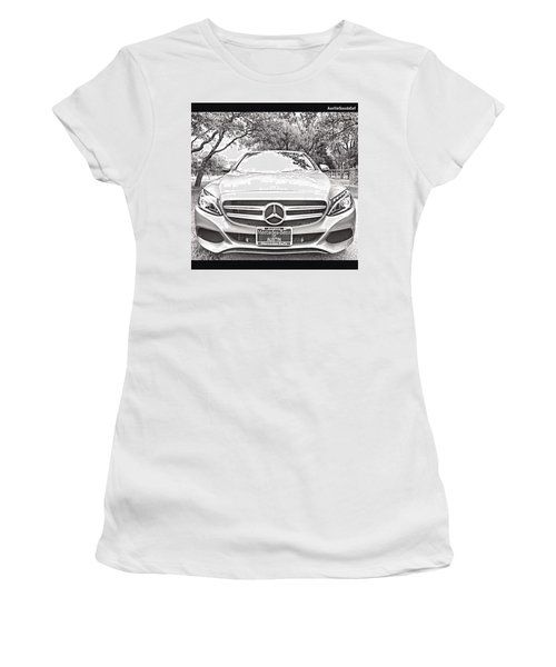 #beautiful Even In A #blackandwhite Women's T-Shirt (Athletic Fit)