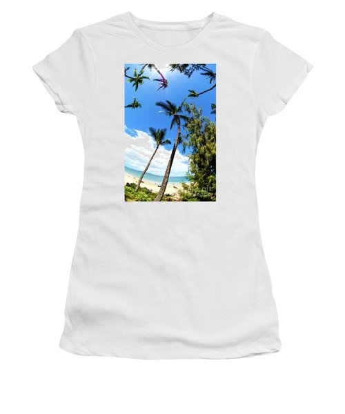 Women's T-Shirt (Junior Cut) featuring the photograph Beautiful Palms Of Maui 17 by Micah May