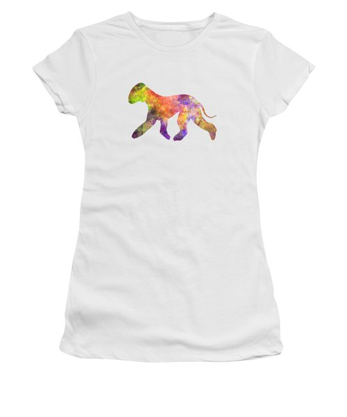 Bedlington Terrier 01 In Watercolor Women's T-Shirt (Athletic Fit)