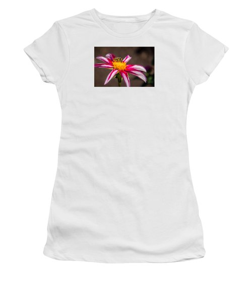 Bee On Dahlia Women's T-Shirt (Athletic Fit)