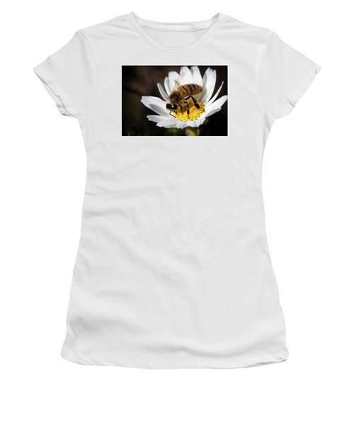 Bee On The Flower Women's T-Shirt (Junior Cut) by Bruno Spagnolo