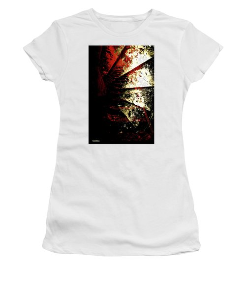 Women's T-Shirt (Junior Cut) featuring the photograph Before You Go Upstairs by Danica Radman