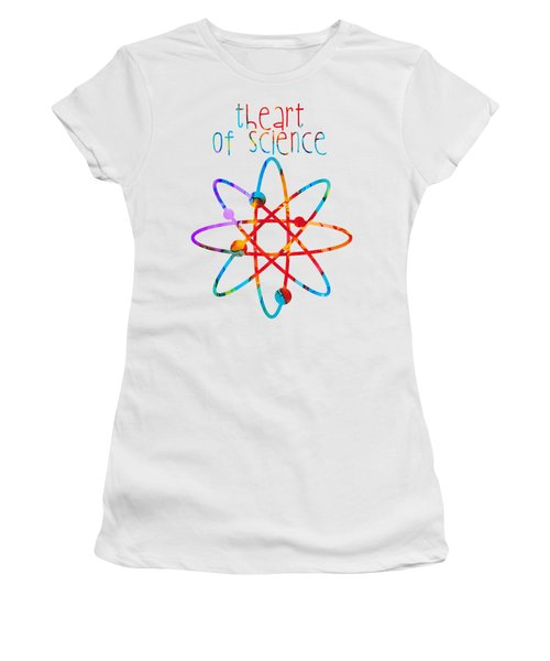 Women's T-Shirt (Junior Cut) featuring the painting Beginnings Abstract by Nikki Marie Smith