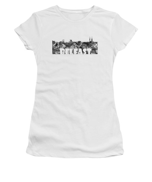 Belfast Ireland Skyline Women's T-Shirt (Athletic Fit)