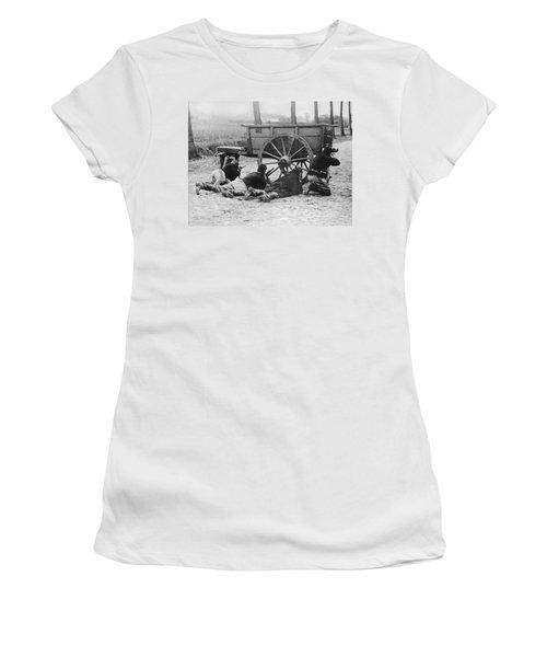 Belgian Infantrymen At Antwerp Women's T-Shirt