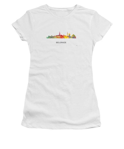 Belgrade Serbia Skyline Women's T-Shirt