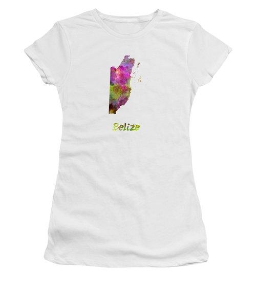 Belize In Watercolor Women's T-Shirt