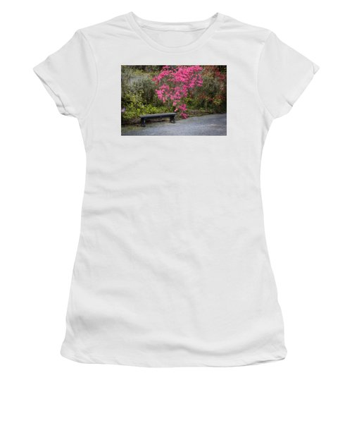 Bench In Azalea Garden Women's T-Shirt