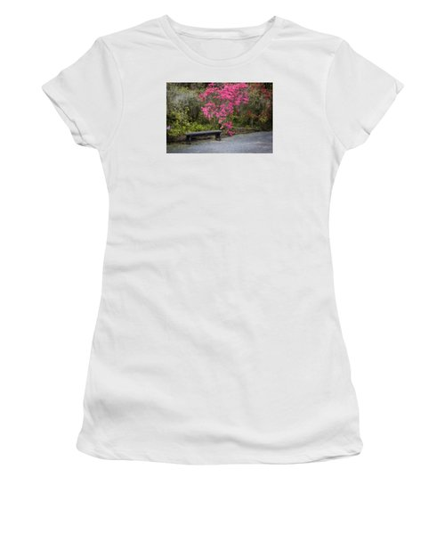 Bench In Azalea Garden Women's T-Shirt