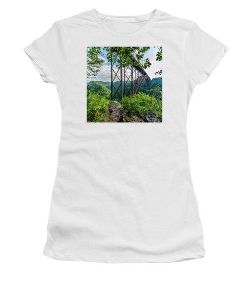 Beneath New River Gorge Bridge Women's T-Shirt