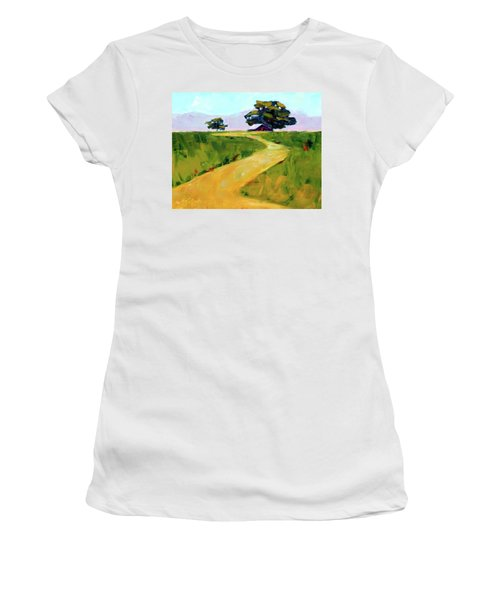Beneath The Cottonwoods Women's T-Shirt (Athletic Fit)