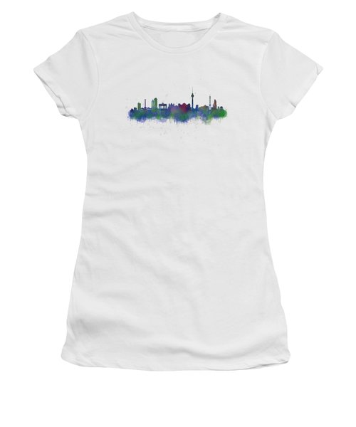 Berlin City Skyline Hq 2 Women's T-Shirt (Athletic Fit)