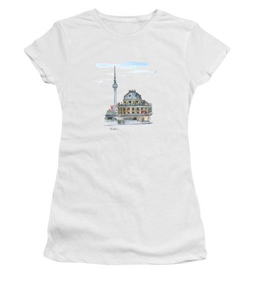 Berlin Fernsehturm Women's T-Shirt (Junior Cut) by Petra Stephens