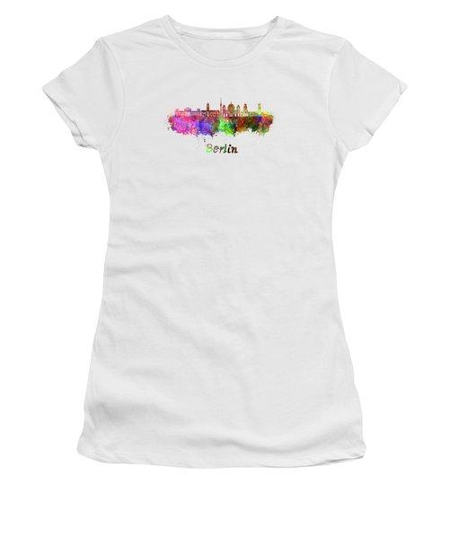 Berlin V2 Skyline In Watercolor Women's T-Shirt