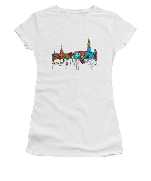 Berne Switzerland Skyline Women's T-Shirt (Junior Cut) by Marlene Watson