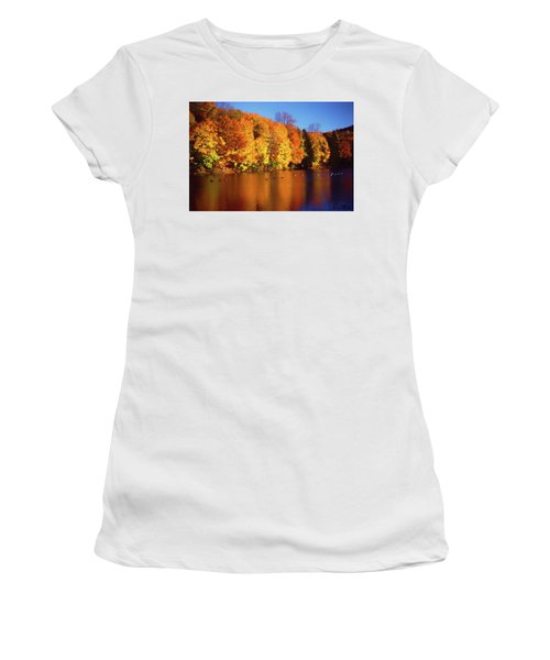 Bernharts Dam Fall 008 Women's T-Shirt (Athletic Fit)