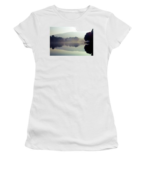 Bernharts Dam Fog 020 Women's T-Shirt (Junior Cut) by Scott McAllister