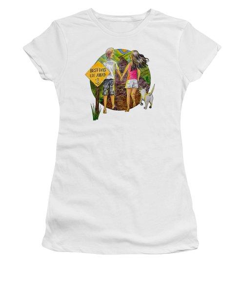 Best Days Lie Ahead Women's T-Shirt (Athletic Fit)