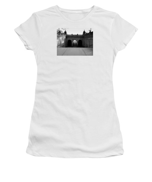 Bethesda Terrace In Central Park - Bw Women's T-Shirt (Athletic Fit)