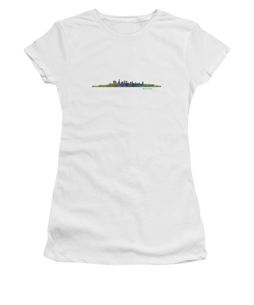 Beverly Hills City In La City Skyline Hq V1 Women's T-Shirt (Junior Cut) by HQ Photo