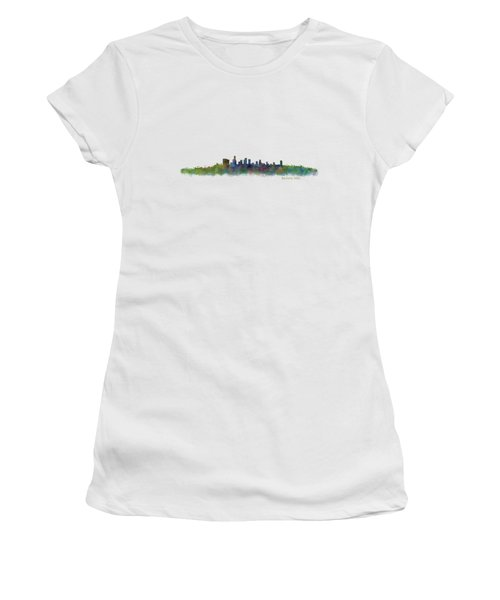 Beverly Hills City In La City Skyline Hq V2 Women's T-Shirt (Junior Cut) by HQ Photo