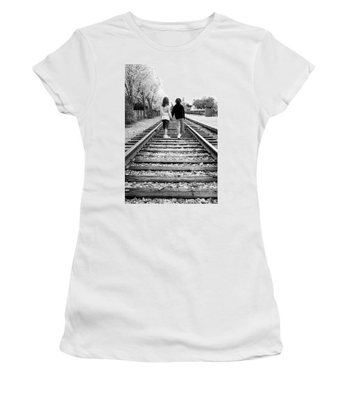 Women's T-Shirt (Junior Cut) featuring the photograph Bff's by Greg Fortier