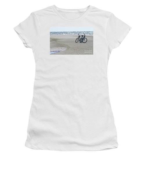 Bicycles On The Beach Women's T-Shirt