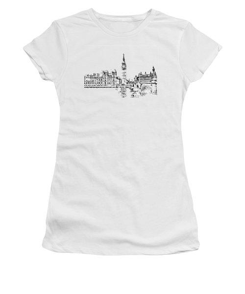 Big Ben Women's T-Shirt (Junior Cut) by ISAW Gallery
